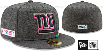 NY Giants ONFIELD CRUCIAL CATCH Grey Fitted Hat by New Era
