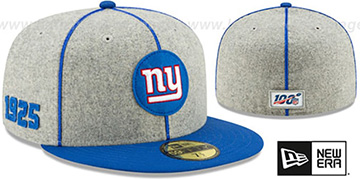 NY Giants 'ONFIELD SIDELINE HOME' Grey-Royal Fitted Hat by New Era