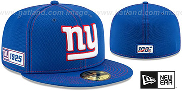 NY Giants 'ONFIELD SIDELINE ROAD' Royal Fitted Hat by New Era
