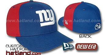 NY Giants 'PINWHEEL'-2 Royal-Red Fitted Hat