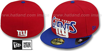 NY Giants 'PROFILIN' Red-Royal Fitted Hat by New Era
