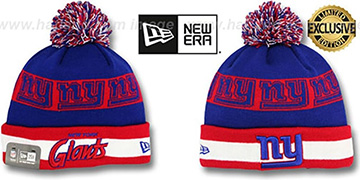 NY Giants REPEATER SCRIPT Knit Beanie Hat by New Era
