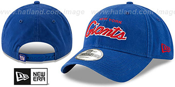 NY Giants RETRO-SCRIPT SNAPBACK Royal Hat by New Era