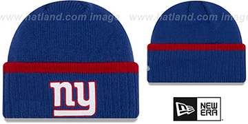NY Giants 'RIBBED-UP' Royal Knit Beanie Hat by New Era