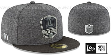NY Giants ROAD ONFIELD STADIUM Charcoal-Black Fitted Hat by New Era