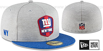 NY Giants ROAD ONFIELD STADIUM Grey-Royal Fitted Hat by New Era