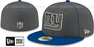 NY Giants 'SHADER MELT-2' Grey-Royal Fitted Hat by New Era