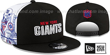 NY Giants SIDE-CARD SNAPBACK Black Hat by New Era