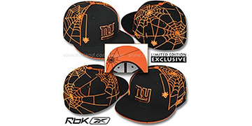 NY Giants 'SPIDERWEB' Black Fitted Hat by Reebok