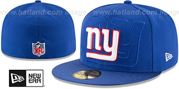 NY Giants STADIUM SHADOW Royal Fitted Hat by New Era