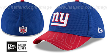 NY Giants STADIUM TRAINING FLEX Royal-Red Hat by New Era