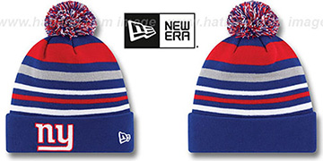 NY Giants 'STRIPEOUT' Knit Beanie Hat by New Era