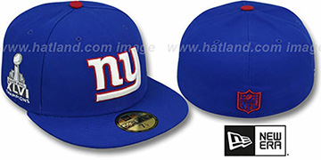 NY Giants SUPER BOWL CHAMPS XLVI Royal Fitted Hat by New Era