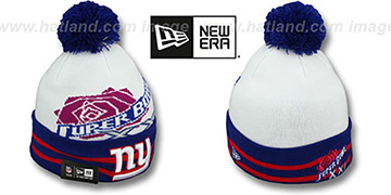 NY Giants SUPER BOWL XXI White Knit Beanie Hat by New Era