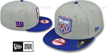 NY Giants SUPER BOWL XXV SNAPBACK Grey-Royal Hat by New Era