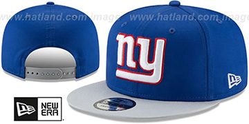 NY Giants TEAM-BASIC SNAPBACK Royal-Grey Hat by New Era