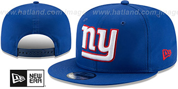 NY Giants TEAM-BASIC SNAPBACK Royal Hat by New Era