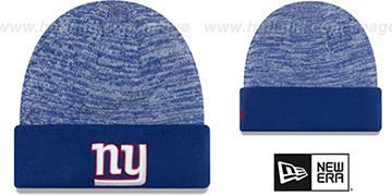 NY Giants TEAM-RAPID Royal-White Knit Beanie Hat by New Era