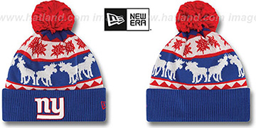 NY Giants 'THE-MOOSER' Knit Beanie Hat by New Era