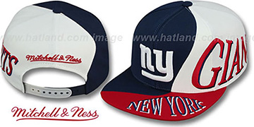 NY Giants 'THE SKEW SNAPBACK' Hat by Mitchell & Ness