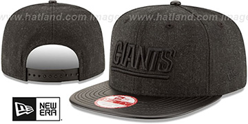 NY Giants 'THROWBACK LEATHER-MATCH SNAPBACK' Black Hat by New Era