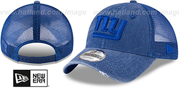 NY Giants TONAL-WASHED TRUCKER SNAPBACK Royal Hat by New Era