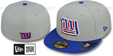 NY Giants 'TRACE-POP' Grey-Royal Fitted Hat by New Era