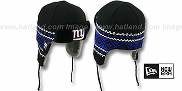 NY Giants 'TRAPPER' Black Knit Hat by New Era