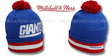 NY Giants 'XL-LOGO BEANIE' Royal by Mitchell and Ness