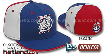 NY Nets HW ABA 'PINWHEEL' Royal-White-Red Fitted Hat