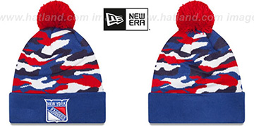 NY Rangers CAMO CAPTIVATE Knit Beanie Hat by New Era