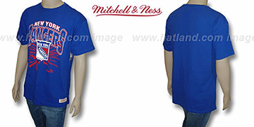 NY Rangers EARTHQUAKE Royal T-Shirt by Mitchell & Ness
