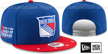 NY Rangers 'NHL STAR-TRIM SNAPBACK' Royal-Red Hat by New Era