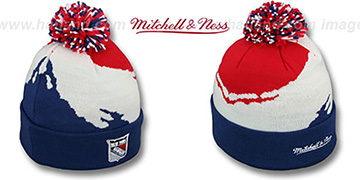 NY Rangers PAINTBRUSH BEANIE by Mitchell and Ness