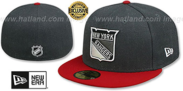 NY Rangers SHADER MELT-2 Grey-Red Fitted Hat by New Era
