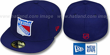 NY Rangers TEAM-BASIC Royal Fitted Hat by New Era