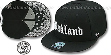 Oakland 'GOTHIC PAISLEY SNAPBACK' Adjustable Hat by Twins 47 Brand