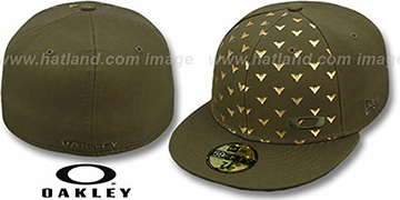 Oakley REPEAT WING Olive Fitted Hat by New Era
