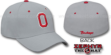 Ohio State 'DH' Fitted Hat by Zephyr - grey