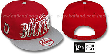Ohio State 'SAILTIP SNAPBACK' Red-Grey Hat by New Era