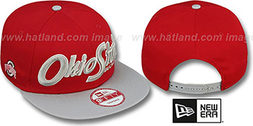 Ohio State 'SNAP-IT-BACK SNAPBACK' Red-Grey Hat by New Era