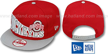 Ohio State 'STOKED SNAPBACK' Red-Grey Hat by New Era