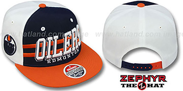Oilers '2T SUPERSONIC SNAPBACK' Navy-Orange Hat by Zephyr