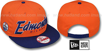 Oilers SNAP-IT-BACK SNAPBACK Orange-Navy Hat by New Era