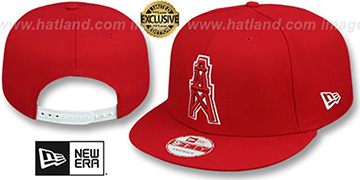 Oilers THROWBACK TEAM-BASIC SNAPBACK Red-White Hat by New Era