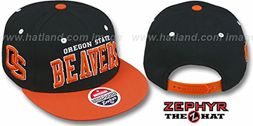 Oregon State 2T SUPER-ARCH SNAPBACK Black-Orange Hat by Zephyr