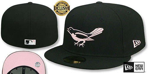Orioles 1954 COOPERSTOWN PINK LOGO BOTTOM Fitted Hat by New Era