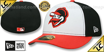 Orioles 1954-63 LOW-CROWN VINTAGE White-Black-Orange Fitted Hat by New Era