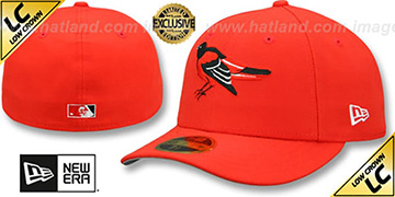 Orioles 1989-97 LOW-CROWN VINTAGE Orange Fitted Hat by New Era
