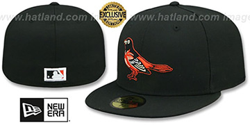 Orioles 1999-2008 HOME COOPERSTOWN Fitted Hat by New Era